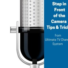 step in front of camera with microphone